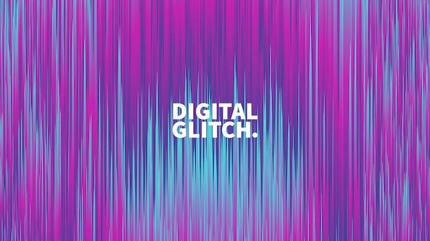 Glitch digital efeito vector abstract background Vetor Premium