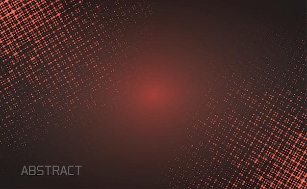 Glitter vermelho e luz no fundo preto Vetor Premium