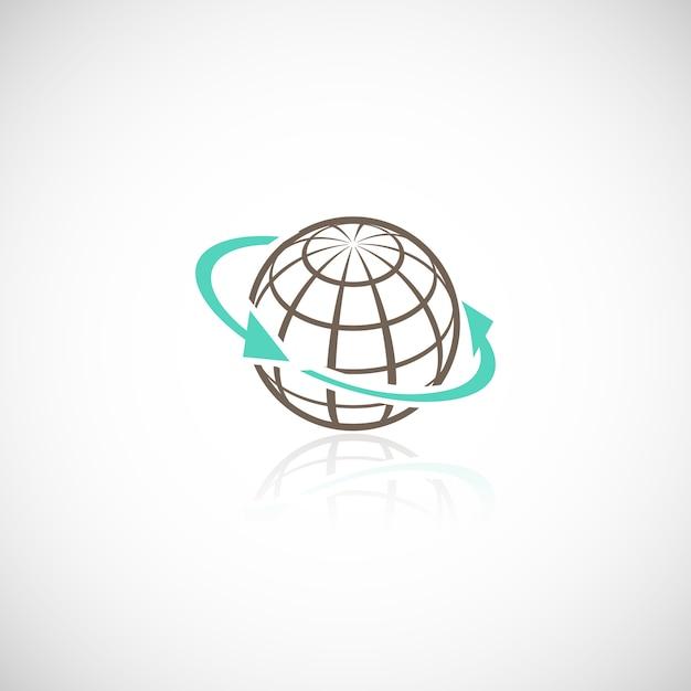 Global networking conexão esfera mídia social em todo o mundo conceito ilustração vetorial Vetor grátis