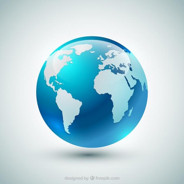 Globo azul da terra Vetor grátis