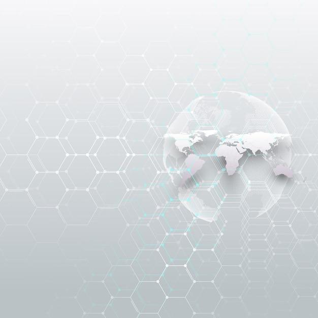 Globo do mundo branco, Vetor Premium