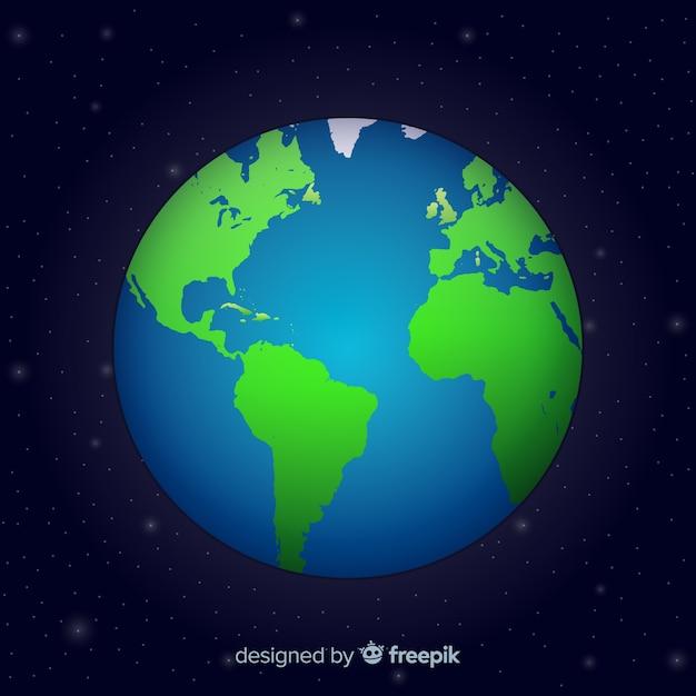 Globo do mundo elegante com estilo gradiente Vetor grátis