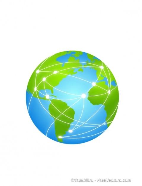 Globo internet Vetor grátis