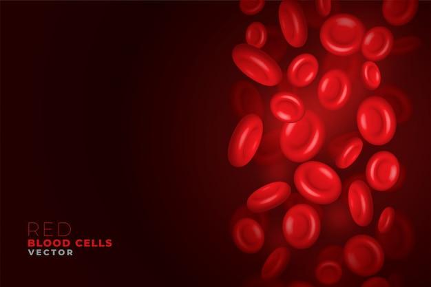 Glóbulos vermelhos fluindo fundo Vetor grátis