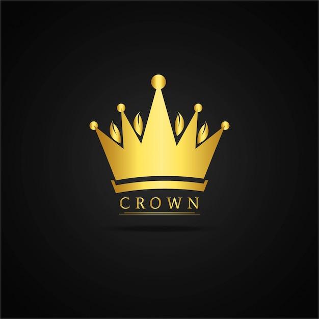 Golden crown background Vetor grátis