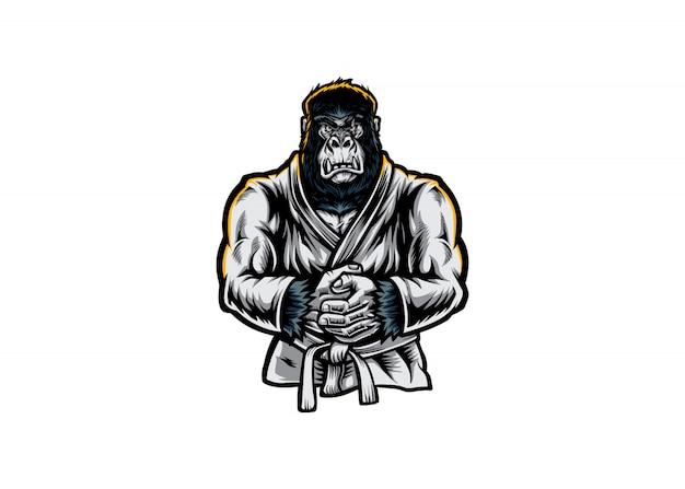 Gorila mma Vetor Premium