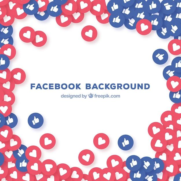 Gosta e corações fundo do facebook Vetor grátis