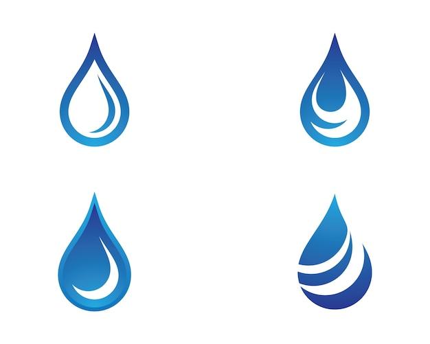 Gota de água símbolo ilustração Vetor Premium