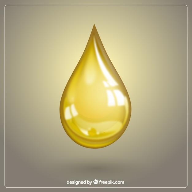 Gota de óleo de oliva Vetor grátis