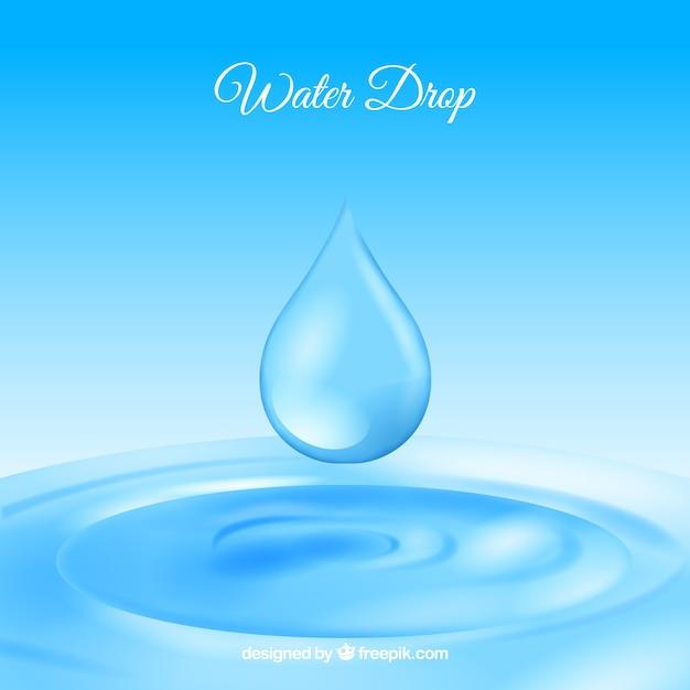 Gotas de água de fundo em estilo realista Vetor grátis