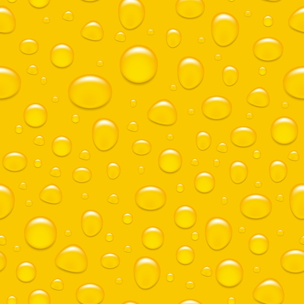Gotas de água no vidro. como uma cerveja. backgroind sem costura. Vetor Premium