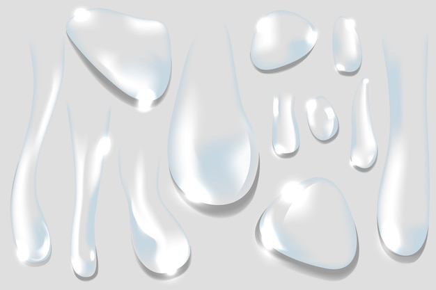 Gotas de água Vetor grátis
