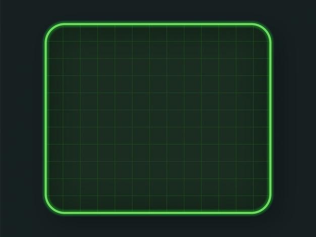 Grade de hud de tecnologia verde Vetor Premium