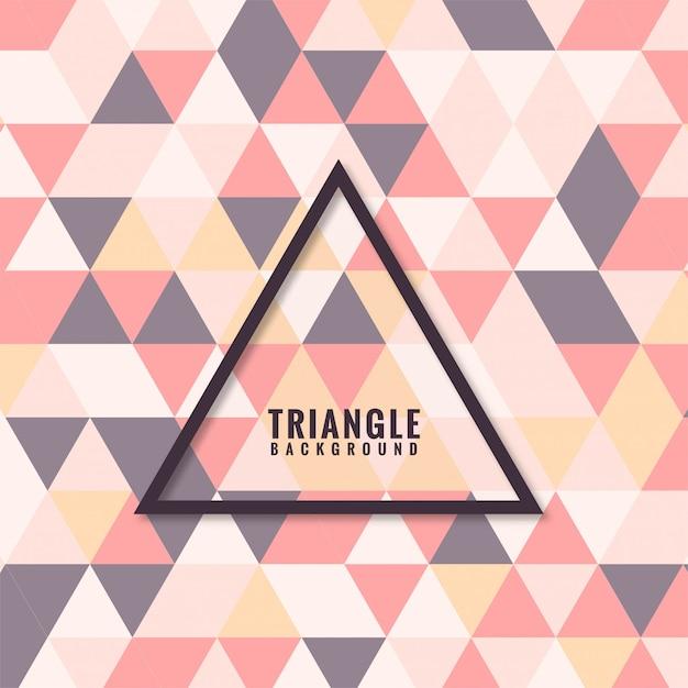 Grade de mosaico abstrato triângulo colorido Vetor grátis