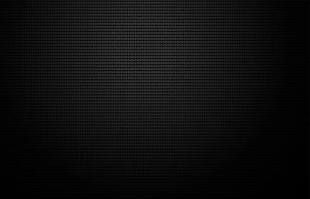 Grade geométrica da textura de fibra de carbono. fundo escuro Vetor Premium