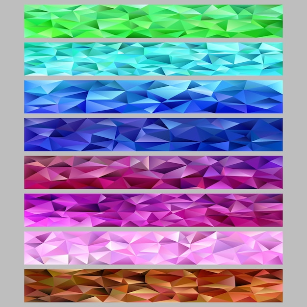 gradiente abstrato triangulo polígono padrão mosaico web banner