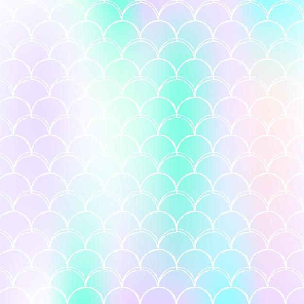 Gradiente com escalas holográficas. transições de cores brilhantes. Vetor Premium