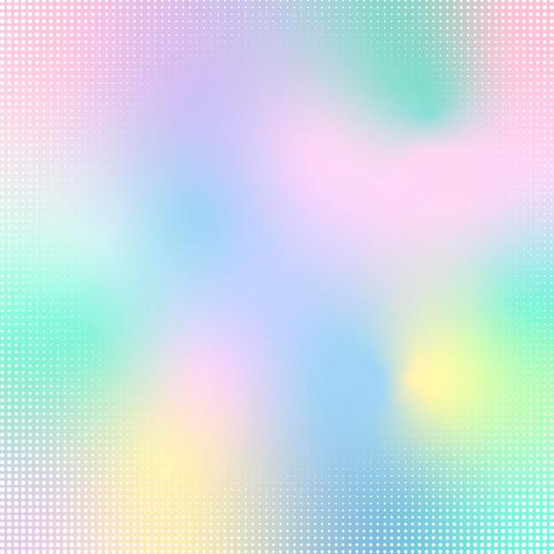 Gradiente de estilo de holograma abstrato Vetor grátis