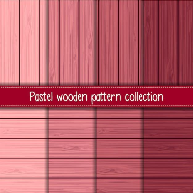 Gradiente de rosa de shabby chic de madeira sem costura padrões Vetor Premium