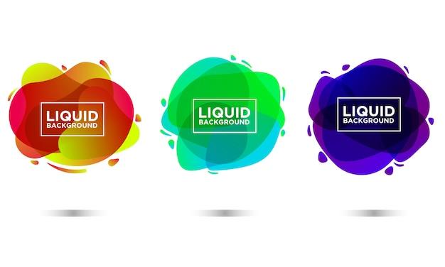Gradiente líquido da forma do fundo do líquido Vetor Premium