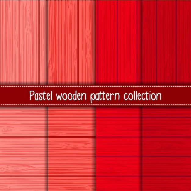Gradiente vermelho de padrões sem emenda de madeira chiques gastos Vetor Premium