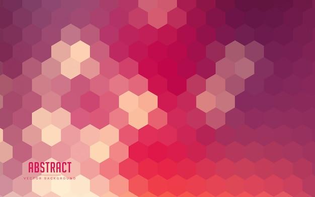 Gradientes de hexágono abstrato colorido Vetor Premium
