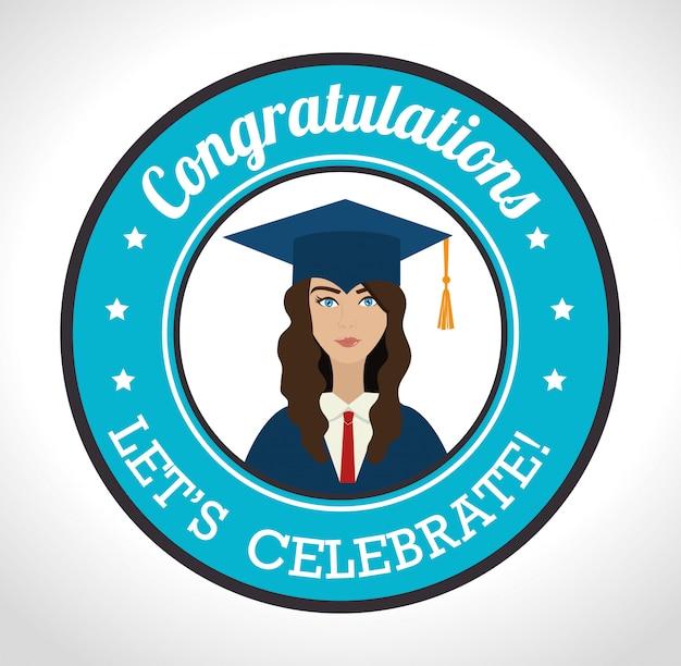 Graduação de estudantes universitários Vetor grátis
