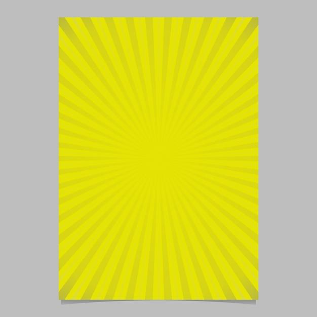 Graduação geométrica abstrata raios solares modelo de capa de folheto - ilustração de fundo de página vetorial com listras radiais Vetor grátis