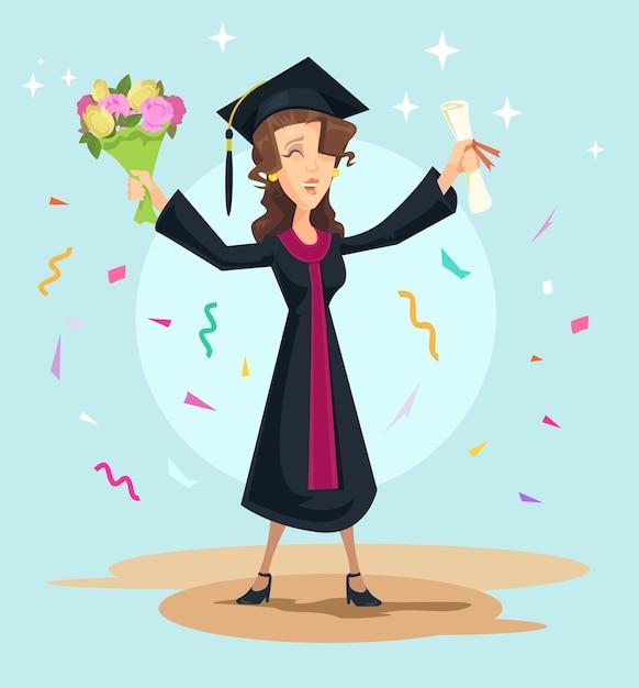 Graduação. Vetor Premium