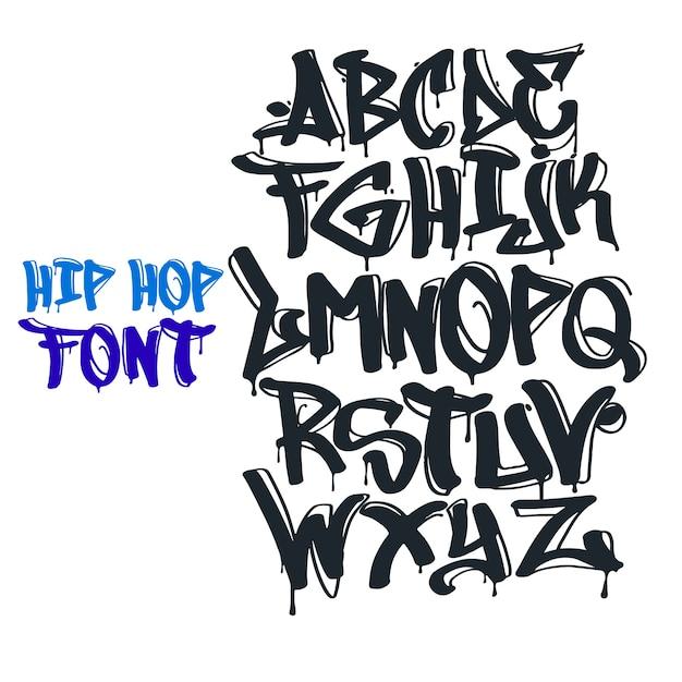 Graffiti font vector Vetor Premium