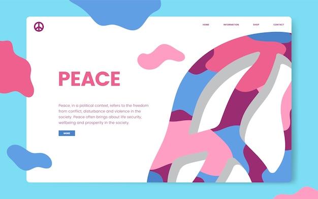 Gráfica de site informativo de paz e liberdade Vetor grátis