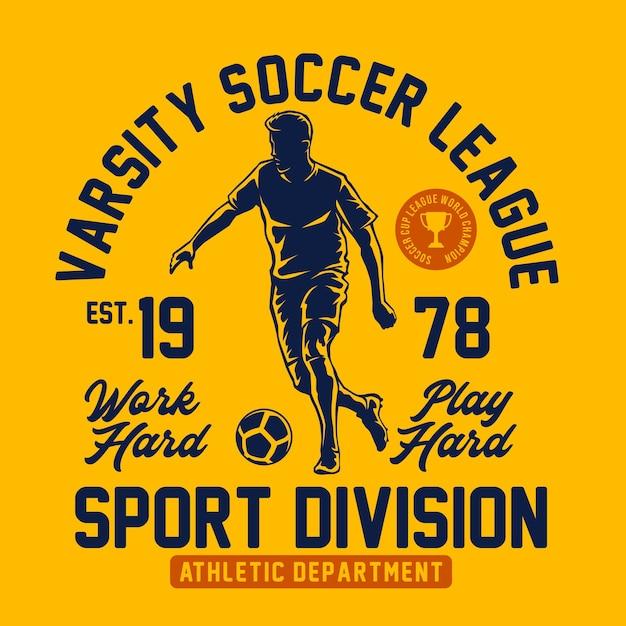 Gráfico de camisetas de futebol do time do colégio Vetor Premium