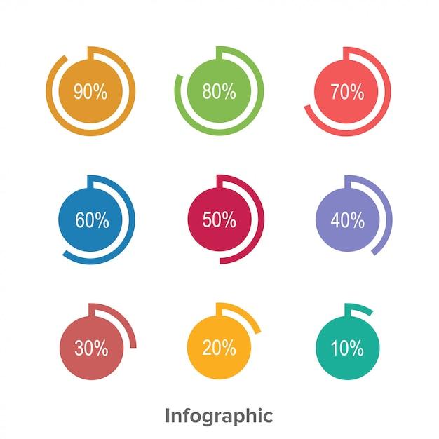 Gráfico de círculo infográfico pode usar para apresentação Vetor Premium