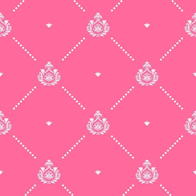 Gráfico de design de decoração padrão rosa sem emenda. para papel de parede Vetor grátis