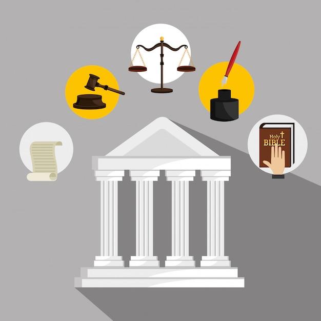 Gráfico de direito e justiça legal Vetor grátis