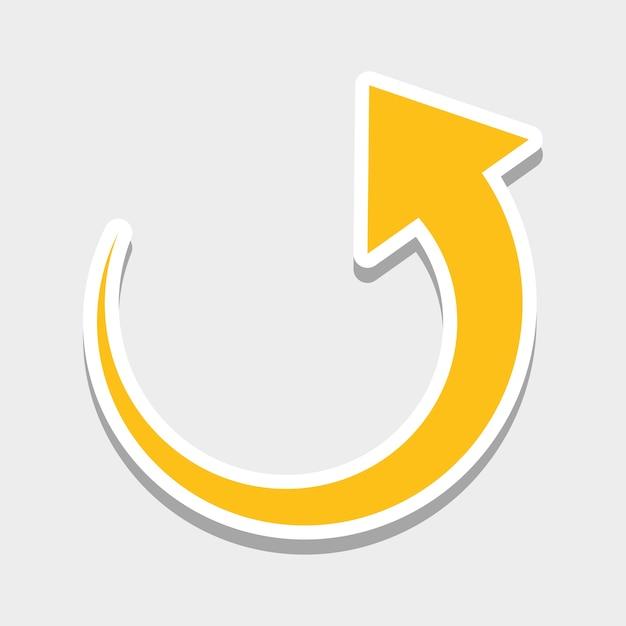 Gráfico de ícones de setas Vetor Premium