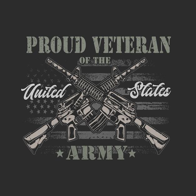 Gráfico de ilustração veterano americano Vetor Premium
