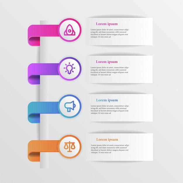 Gráfico de informação de beleza moderna com ícone de negócios Vetor Premium