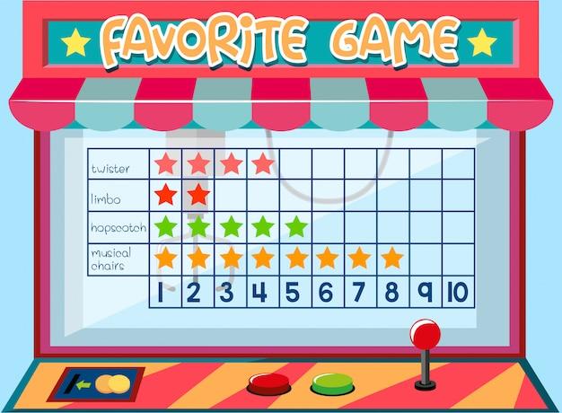 Gráfico de jogo de matemática Vetor grátis