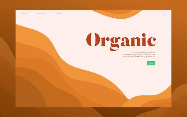 Gráfico de site informativo de plantio orgânico Vetor grátis