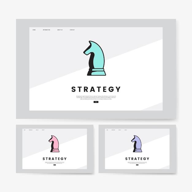 Gráfico do site informativo de estratégia de negócios Vetor grátis