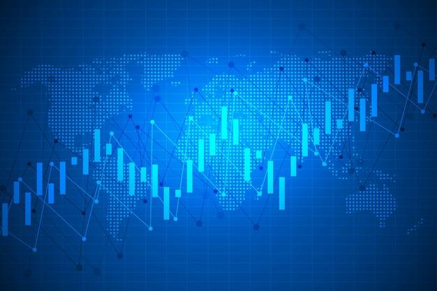 Gráfico e mercado de ações Vetor Premium