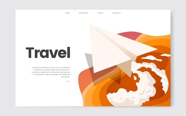 Gráfico informativo do site de viagens e lazer Vetor grátis