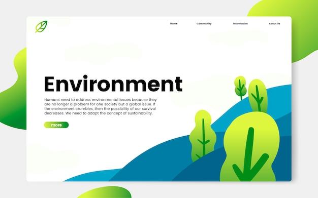 Gráfico informativo sobre o ambiente e a natureza Vetor grátis