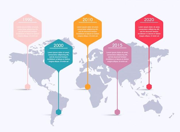 Gráficos de informação para suas apresentações de negócios. pode ser usado para o layout do site, banners numerados, diagrama, linhas de recorte horizontal, web. Vetor Premium