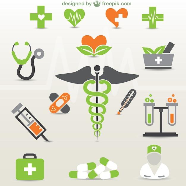 Gráficos médicos gratuitos Vetor grátis