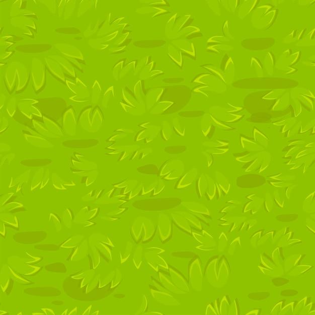 Grama texturizada sem costura. padrão de grama natural. Vetor grátis