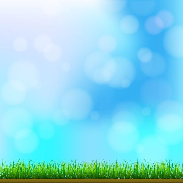 Grama verde natural Vetor Premium
