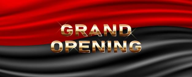 Grande abertura. o elemento de design festivo do modelo para a cerimônia de abertura pode ser usado como pano de fundo Vetor Premium