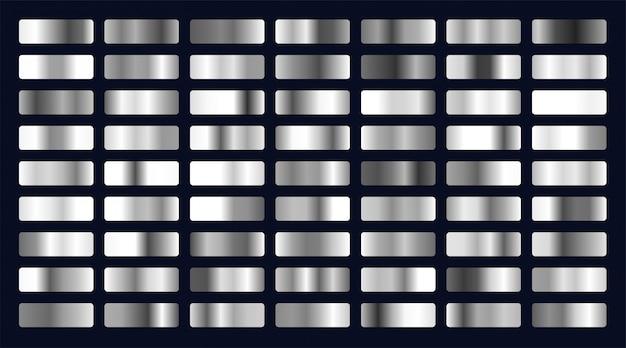 Grande conjunto de gradientes de prata Vetor grátis